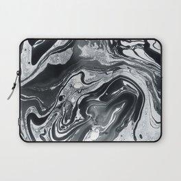 Marble in Black Ink Laptop Sleeve
