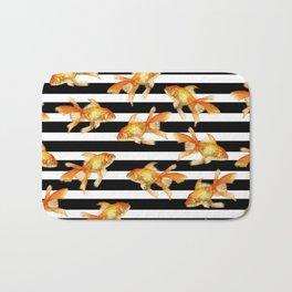 The Golden One II - b&w stripes Bath Mat