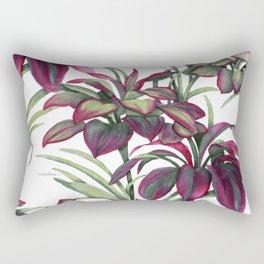 Tropical Leaves Sing Rectangular Pillow