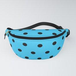 Patty - Black Polka Dots in Light Blue Fanny Pack