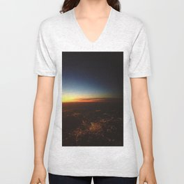 Sunset from a Plane's View Unisex V-Neck