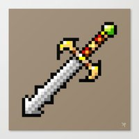 sword Canvas Prints featuring Sword by HOVERFLYdesign
