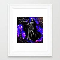 vader Framed Art Prints featuring Vader  by Saundra Myles