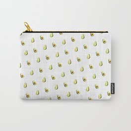 Avocado Print | White Carry-All Pouch