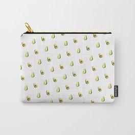Avocado Print | White Carry-All Pouch