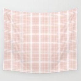 Spring 2017 Designer Color Pale Pink Dogwood Tartan Plaid Check Wall Tapestry