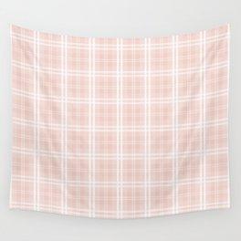 Spring 2017 Designer Color Pale Pink Dogwood Tartan Plaid Check Wall Tapestry