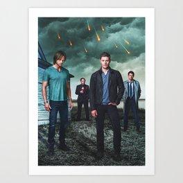 Supernatural Season 9 Promo  Art Print