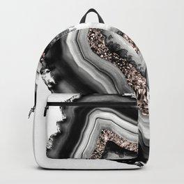 Agate Rose Gold Glitter Glam #1 #gem #decor #art #society6 Backpack