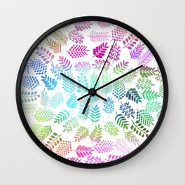 Colorful branches 3 Wall Clock