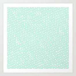 Dotted - Mint Art Print
