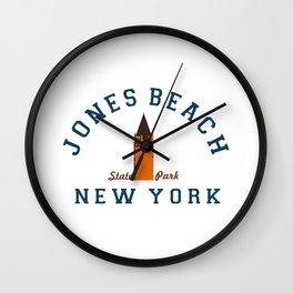 Jones Beach - New York. Wall Clock
