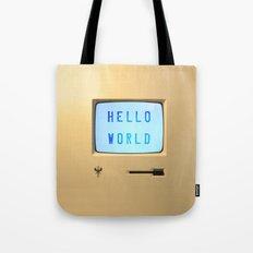 Hello World Personal Computer Tote Bag