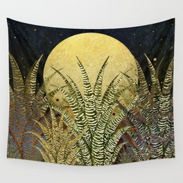 """Golden aloe Zebra midnight sun"" Wall Tapestry"