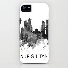 Nur-Sultan Kazakhstan Skyline BW iPhone Case