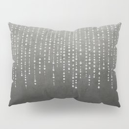 Silver Glamour Faux Glitter on grey Texture Pillow Sham
