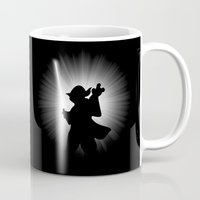 dark side Mugs featuring YODA'S DARK SIDE by JVZ Designs