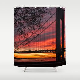 Sunrise at the Bridge Shower Curtain