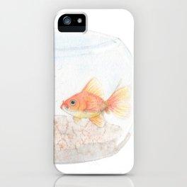 Grumpy Goldfish iPhone Case