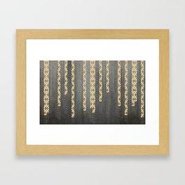 Golden Bustards Framed Art Print