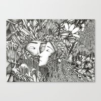 valar morghulis Canvas Prints featuring Aule and Yavanna  by Anca Chelaru