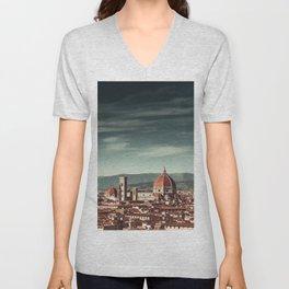 firenze skyline Unisex V-Neck