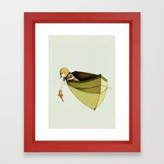 Sofi and the Fish Framed Art Print