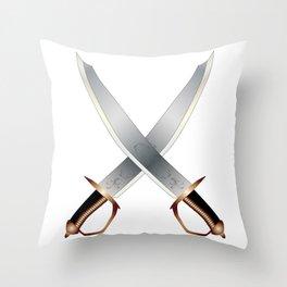 Crossed Cutlasses Throw Pillow