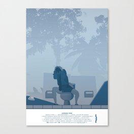 Jurassic Park poster - feat. Donald Gennaro Canvas Print