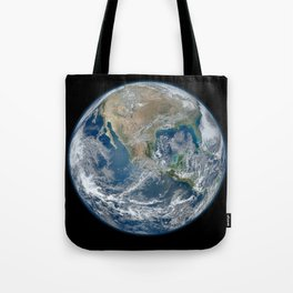 North America from Low Orbit Tote Bag