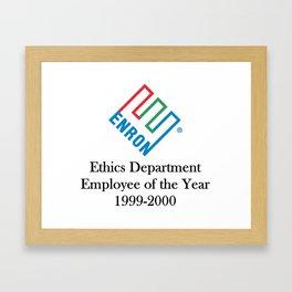 Enron ethics department satire/ parody Framed Art Print