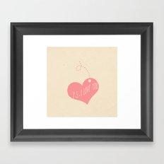 P.S. I love you Framed Art Print
