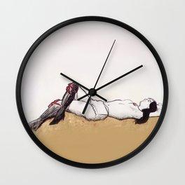 HOMMAGE A SCHIELE II Wall Clock