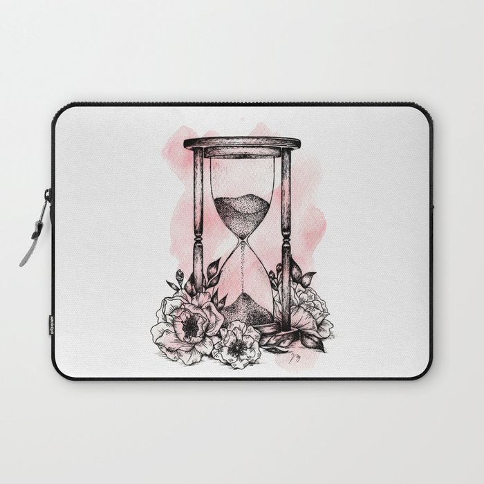 Floral Hourglass Laptop Sleeve