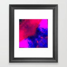 02-14-36 (Red Blue Glitch) Framed Art Print