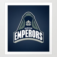 DarkSide Emperors -Blue Art Print
