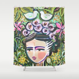 Mexico Whimsical Art Shower Curtain