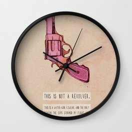 THIS IS NOT A REVOLVER. Wall Clock