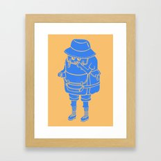 Backpacker Framed Art Print