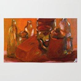 Still Life Study in Red Rug