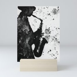 Jazz Player Mini Art Print
