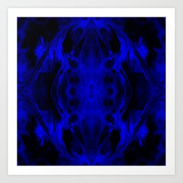 Abstract, Blue, Black (CA17020CM) Art Print