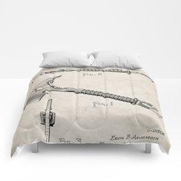 Firemans Axe Patent - Fire Fighter Art - Antique Comforters