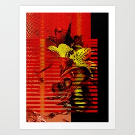 Flor kitsch I love Art Print