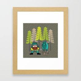 Lumberjack & Blue Ox Framed Art Print