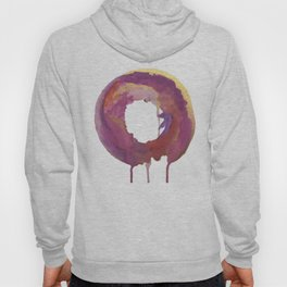 Be present: a colorful, abstract, circular piece in pinks purples and gold Hoody