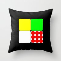 tour de france Throw Pillows featuring Tour de France Jerseys 3 Black by The Learning Curve Photography