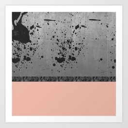 Concrete, Ink and Pink Art Print