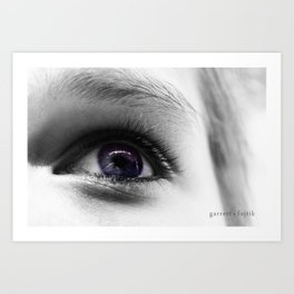 The Universe in her Eyes Art Print