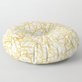 Sketchy Palms in Gold Floor Pillow